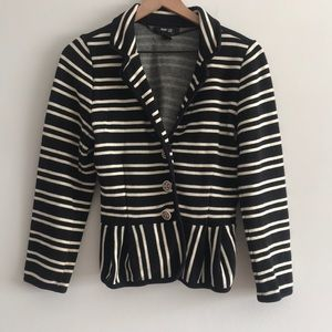 Style & Co CBlazer Button Down Stripe Size MP